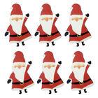 Wooden Santa Embellishments: Pack of 6 image number 1