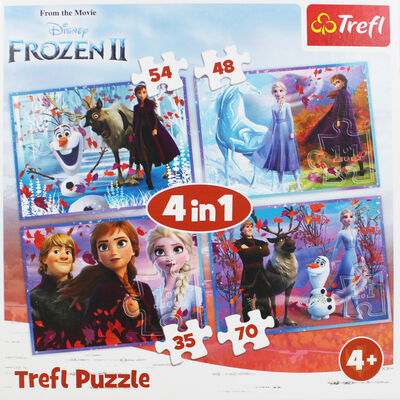 Disney Frozen 2 4-in-1 Jigsaw Puzzle Set image number 2