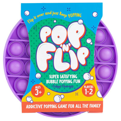 Pop 'N' Flip Bubble Popping Fidget Game: Assorted Circle image number 1