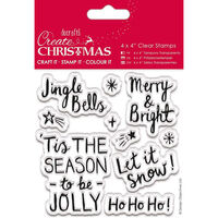 Christmas Contemporary Sentiments Clear Stamps