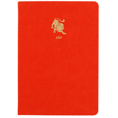 A5 Case Bound PU Zodiac Leo Lined Journal image number 1
