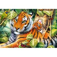 Two Tigers 1500 Piece Jigsaw Puzzle