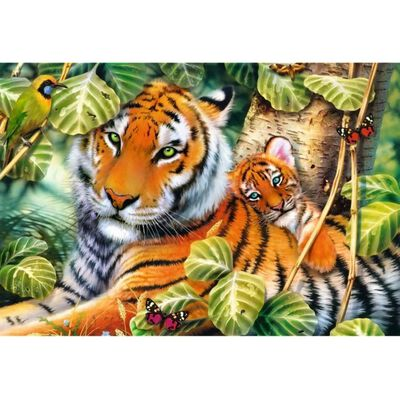 Two Tigers 1500 Piece Jigsaw Puzzle image number 2