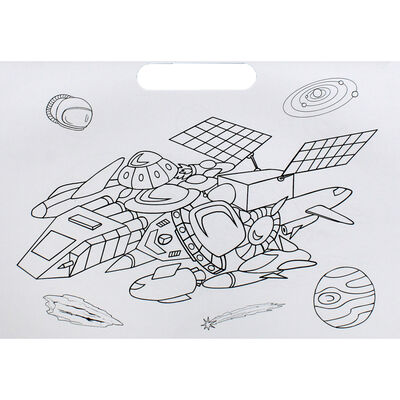 Spaceships Doodle Colouring Book image number 2