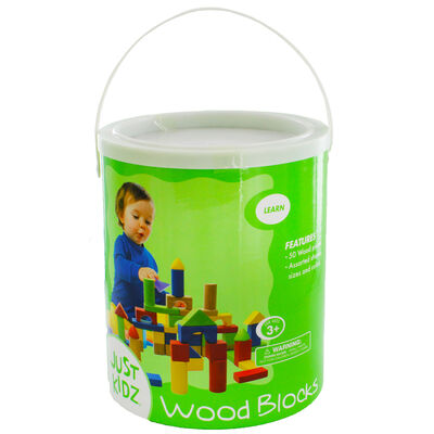 Wooden Blocks - 50 Pieces image number 1