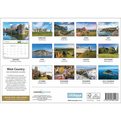 West Country 2020 A4 Wall Calendar image number 2