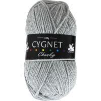 Cygnet Chunky Light Grey Yarn - 100g
