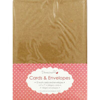 Kraft Cards and Envelopes - Pack Of 10