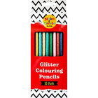 Glitter Colouring Pencils Pack of 10 image number 1