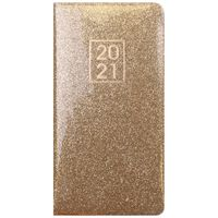 Gold Glitter 2021 Slim Week to View Pocket Diary