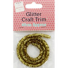 Gold Glitter Craft Trim 46cm image number 1