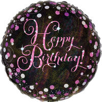 18 Inch Pink Happy Birthday Helium Balloon