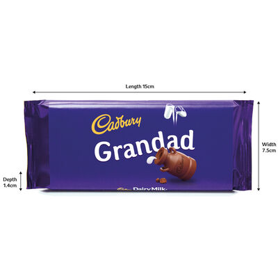 Cadbury Dairy Milk Chocolate Bar 110g - Grandad image number 3