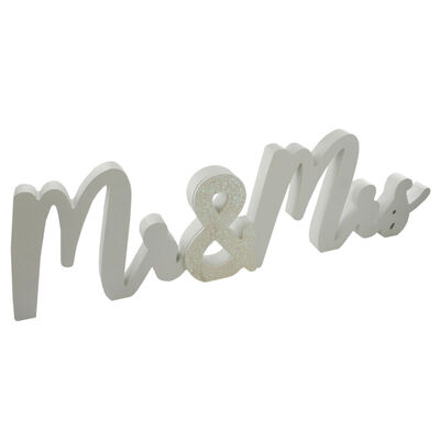 Mr and Mrs White Block Sign image number 1