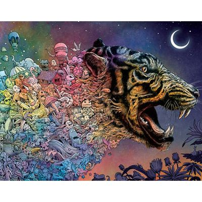 Animorphia Tiger in the Night 1000 Piece Jigsaw Puzzle image number 2