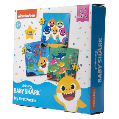 Baby Shark My First Puzzle 3-in-1 Jigsaw Puzzle image number 2