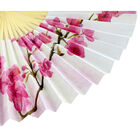 White Floral Paper Fan image number 3