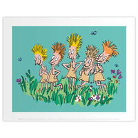 Roald Dahl Charlie and the Chocolate Factory Oompa Loompas Print
