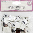Dovecraft Essentials Metallic Letter Tiles - Silver - 150 Pieces image number 1