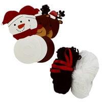 Make Your Own Pom Pom Decorations: Snowman & Reindeer
