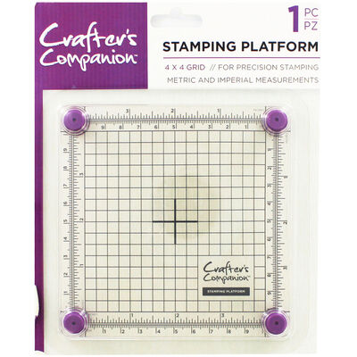 Crafters Companion Stamping Platform - 4x4 Inch image number 1