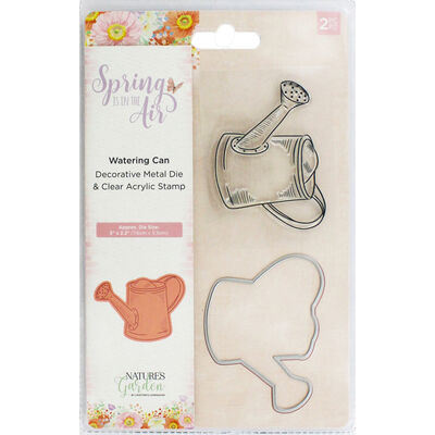 Crafters Companion Spring is in the Air Stamp and Die - Watering Can image number 1