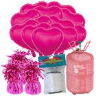 18 Inch Pink Helium Heart Balloon Bundle image number 1