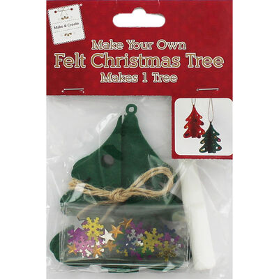 Make Your Own Felt Christmas Tree - Assorted