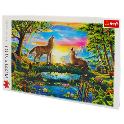 Lupine Nature 500 Piece Jigsaw Puzzle image number 3