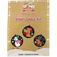 Make Your Own Christmas Stain Glass Kit