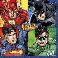 Justice League Paper Napkins - 16 Pack