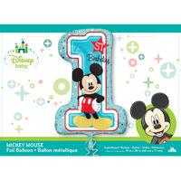 28 Inch Mickey Mouse 1st Birthday Helium Balloon
