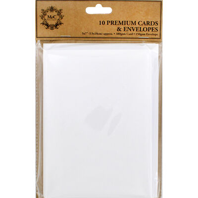 White Blank Cards and Envelopes - 5 x 7 Inches image number 1