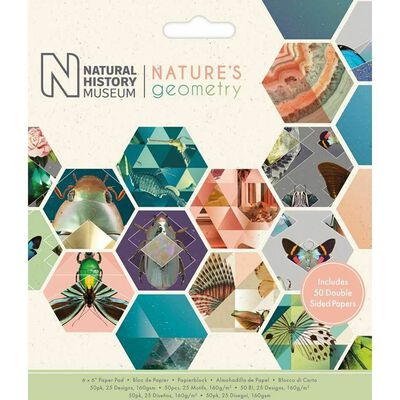 Natures Geometry Paper Pad 6 X 6 Inch image number 1