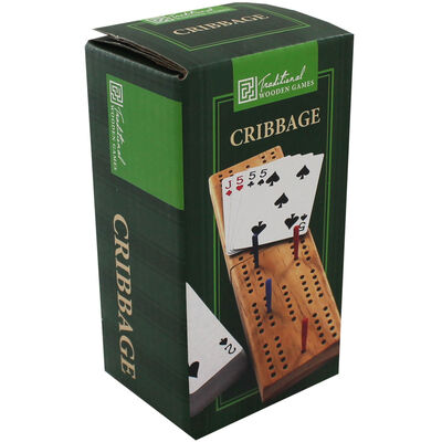 Traditional Wooden Cribbage Game image number 1