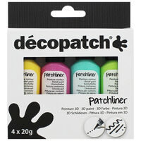 Decopatch Bright Patchliners: Pack of 4