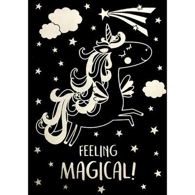 A4 Unicorn Scratch Art image number 3