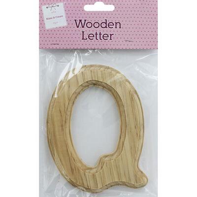 Wooden Letter Q image number 1