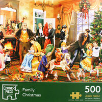 Family Christmas 500 Piece Jigsaw Puzzle