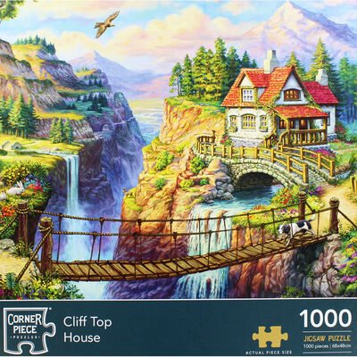 Cliff Top House 1000 Piece Jigsaw Puzzle image number 2