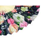 Black Floral Paper Fan image number 3