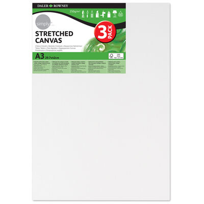 Stretched Canvases A3 Pack of 3 image number 1