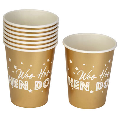 Gold Hen Do Paper Cups - 8 Pack image number 3