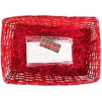Medium Red Hamper with Tartan Ribbon Kit