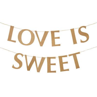 Love is Sweet Kraft Buffet Bunting image number 2