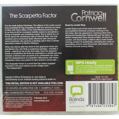 The Scarpetta Factor: MP3 CD image number 2