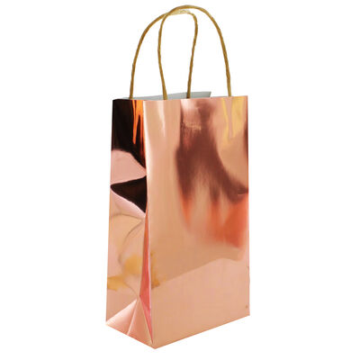 Rose Gold Foil Party Bags - 5 Pack image number 3