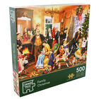 Family Christmas 500 Piece Jigsaw Puzzle image number 1