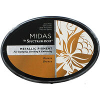 Midas by Spectrum Noir Metallic Pigment Inkpad - Bronze