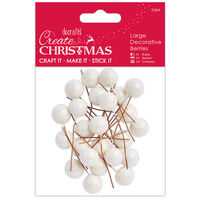 Frosted White Decorative Berries: Pack of 24